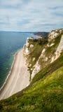 Юрское побережье в Девоне, Великобритании Стоковая Фотография