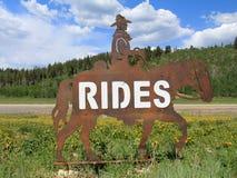 Юта: Езды лошади Стоковое Изображение RF