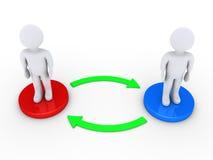 2 люд взаимодействуют друг с другом Стоковое Изображение