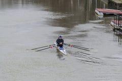 2 люд в каное Стоковая Фотография