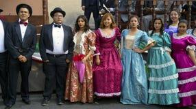 19 людей одетых столетием Стоковое Фото