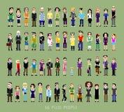 56 людей пиксела Стоковое Изображение