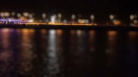 Юлить движение на портовом районе на ноче акции видеоматериалы