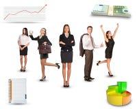 люди бизнес-группы счастливые Стоковые Изображения