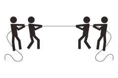 люди веревочки тяги конкуренции сыгранности Стоковая Фотография RF