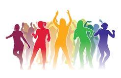 люди 3 иллюстрации красивейшего танцы 3d габаритные очень Стоковая Фотография RF