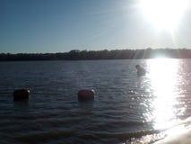люди озера рыболовства шлюпки Стоковые Фото