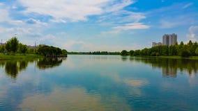 люди озера рыболовства шлюпки Стоковые Изображения