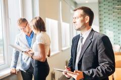 люди 3 офиса дела работая Стоковая Фотография RF