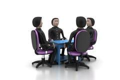 люди 3d в деловой встрече Стоковые Фото