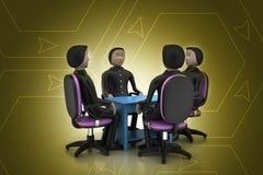 люди 3d в деловой встрече Стоковая Фотография RF