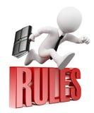 люди 3d спрашивают белизну Бизнесмен ломая правила Стоковая Фотография RF