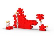 люди 3d строя головоломку, сыгранность Стоковое Фото
