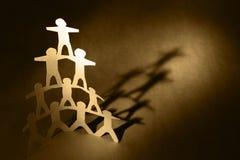 людская пирамидка Стоковые Фото