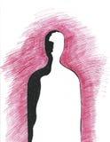 людской силуэт Стоковая Фотография