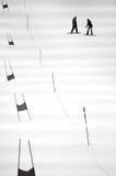 2 люд сползая на сноуборд в Snowplanet в Окленде - новом стоковая фотография