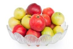 яблоки изолировали белизну вазы Стоковое Изображение