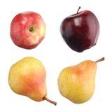 яблоки изолировали белизну snd груш Стоковые Фотографии RF