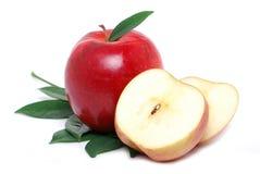 яблоки отрезали Стоковое Фото