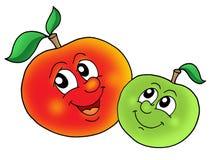 яблоки спаривают усмехаться иллюстрация вектора