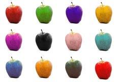 яблоки цветастые Стоковые Изображения RF