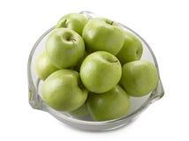яблоки bowl заполненный зеленый цвет Стоковые Фотографии RF