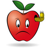 Яблоко глиста Стоковое фото RF