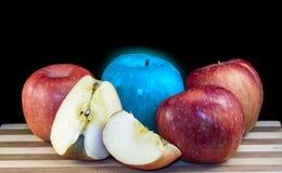 Яблоко голубого свечения Стоковые Фотографии RF