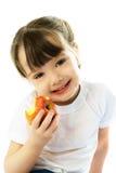 яблоко есть девушку немного Стоковая Фотография RF