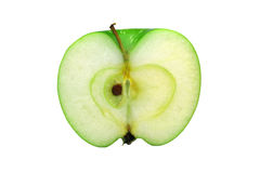 яблоко - зеленая половина Стоковые Изображения RF