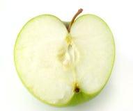 яблоко - зеленая половина стоковые фото