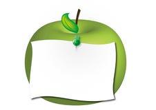 яблоко - зеленое примечание Стоковые Фото