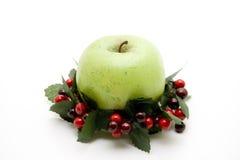 яблоко - зеленый венок Стоковое Изображение RF