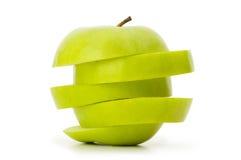 яблоко - зеленый цвет изолировал отрезано Стоковые Фотографии RF