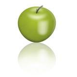яблоко - зеленый цвет иллюстрация вектора