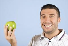 яблоко - зеленый человек Стоковая Фотография