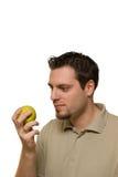 яблоко - зеленый человек Стоковое Фото