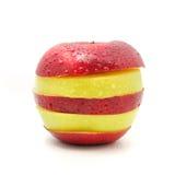 Яблоко на белой предпосылке Стоковые Фотографии RF