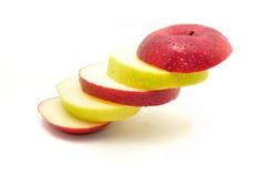 Яблоко на белой предпосылке Стоковое Фото
