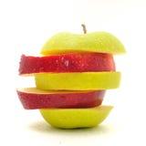 Яблоко на белой предпосылке Стоковая Фотография