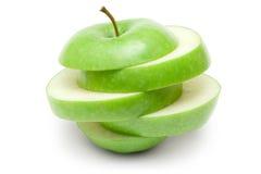 яблоко - отрезанный зеленый цвет Стоковое фото RF