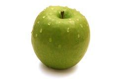 яблоко падает зеленая сладостная вода Стоковая Фотография