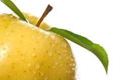 яблоко падает золотистая вода Стоковое Фото