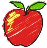 яблоко стилизованное Иллюстрация штока