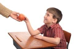 яблоко учит стоковое изображение