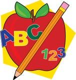яблоко abc Стоковые Изображения