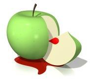 яблоко bloody иллюстрация вектора