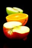 яблоко halves помеец Стоковые Фотографии RF