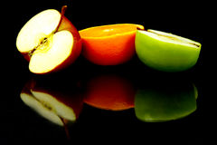 яблоко halves помеец Стоковая Фотография