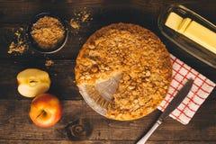 Яблочный пирог Flatlay падения стоковые изображения